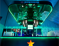 THE UPSIDE DOWN BAR - HEINEKEN BEER