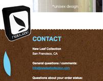 NEW LEAF COLLECTION WEBSITE