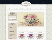 The Vintage Cup webdesign