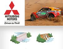 Mitsubishi Dakar Rally 2005 - Icons