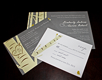 Kim & Aaron Wedding Invitations