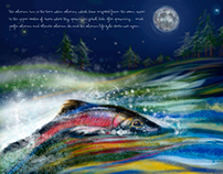 Salmon Spawning - Digital Illustration