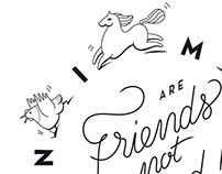 Friends not food !