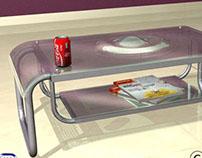 Glass coffee table, Acuarius