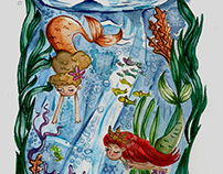 Mermaids - Watercolor