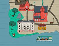 Illustrated map of Sorø
