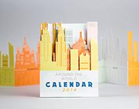 Sky Line Calendar - Around the World