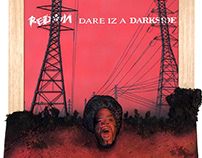 REDMAN - DARE IZ A DARKSIDE 2.5D -VINYL COVER WALL ART