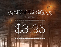 Safety Sign Promotional Materials