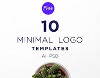Dsgn 10 Free Minimal Logo Templates PSD | AI
