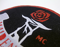 Maiden Red Iron-on Patch