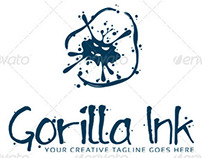 'Gorilla Ink' Logo Design