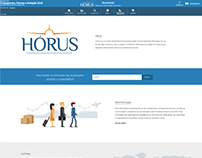 Home Hórus - UI / Ilustrações