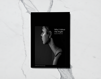 Why I Adore The Night – Editorial Design