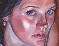 Watercolor portrait. Kate.