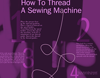 Singer Sewing Poster Design
