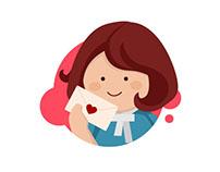 Cute girl icons for hanriver.eu
