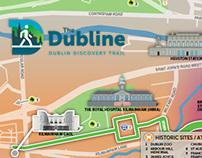 Dubline Pedestrian Tourism map