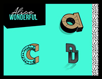 Alice Wonderful typographie