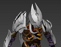 Armor for Clinkz (DotA 2 character). Concept by Dioksyr