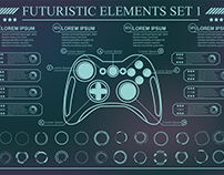 Futuristic HUD pattern. Backgroun with futuristic UI