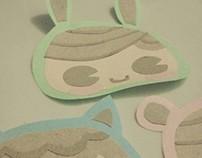 Pastel Paper Faces