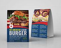 Burger Restaurant Table Tent Template Vol.3