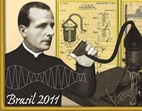 postal stamp 150 YEARS LANDELL DE MOURA