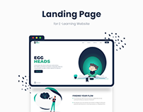 Landing page For E-learning website