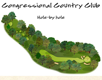 Congressional Country Club. Hole by Hole Illustrations
