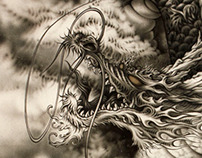 Japanese Dragon~airbrush#2