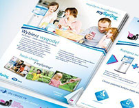 Nestle mySpring Roll-up, A5 Brochure and Client cards