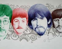 beatles in ballpoint
