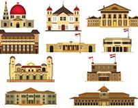 Hindia Belanda classic asset ( vector & mesh tool )