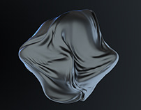 C4D Abstract Cloth Effect