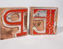Letterpress Letter Blocks
