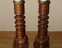 Bespoke Candle sticks & Pillar in different Hardwoods
