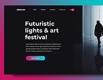 abstract. landing page