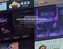 Twitch Packages for Streamers; Overlays, Scenes & more!