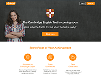 Cambridge Certificate landing page for beta test