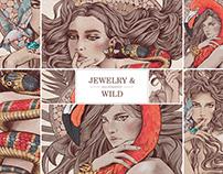 Jewelry and wild / fashion illustration