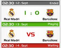 The sports app interface design
