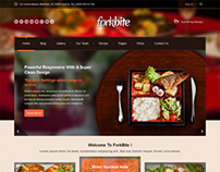 Forkbite, WordPress Restaurant Food Recipes Theme
