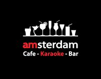 Cocktail menu. Amsterdam-café.