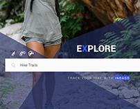 Hiking App & Landing Page