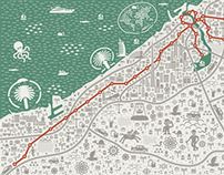 Collection of map illustrations