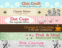 Etsy banners for Aileen Rose