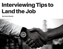 Interviewing Tips to Land the Job by Scott Storick