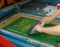Screen Prints with Handcut Paper Stencils