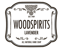 Woodspirits Soaps logo & packaging